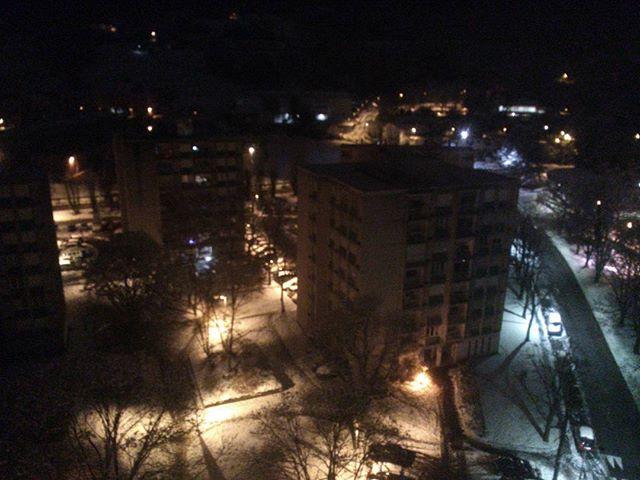 Paysage nocturne enneigé. #cognin #savoie #mountainlife #mountains #montagnes